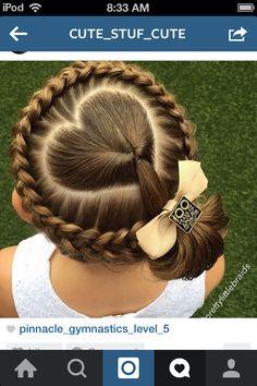 I love this heart hair style