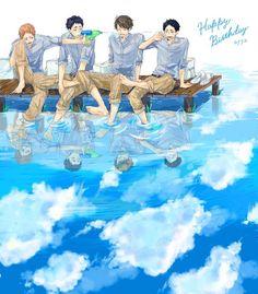 埋め込み The Seijou third years Oikawa Tooru, Iwaoi, Kuroken, Haikyuu Meme, Haikyuu Fanart, Manga Anime, Volleyball Anime, Hot Anime Boy, Haikyuu Ships