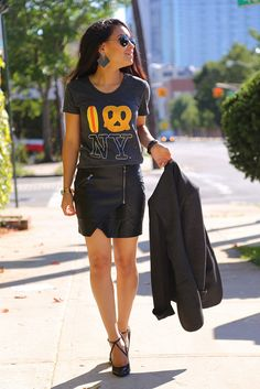How to wear leather before Fall