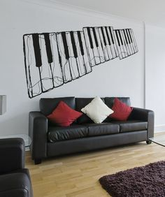 Vinyl Wall Decal Sticker Cracking Piano #OS_AA1336