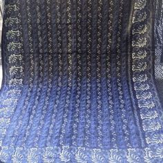 Vintage indigo resist dyed cover from Slovakia Really beautifully and skillfully block printed and dyed