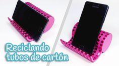 Manualidades: SOPORTE móvil o celular con tubos de cartón - Innova Manua...