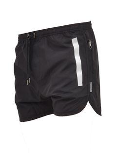 NEIL BARRETT BLACK SWIM SHORTS. #neilbarrett #cloth #