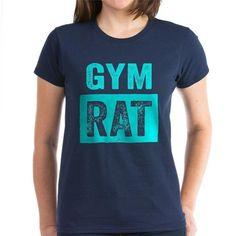 Gym Rat Womens T-Shirt #fitness