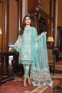 Pakistani Salwar Kameez Ramsha Casual Collection Vol 18 Pakistani Dresses Shalwar Kameez, Pakistani Formal Dresses, Formal Dresses For Weddings, Pakistani Dress Design, Pakistani Outfits, Salwar Suits, Sleeves Designs For Dresses, Dress Designs, Blouse Designs