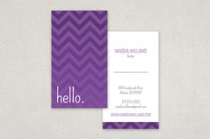 Monotone Zigzag Business Card Template — The monochromatic color palette and hip sans-serif font combine to make this design both fun and stylish.