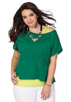 Typ , Shirt und Top, |Materialzusammensetzung , Top + Shirt in 100%Baumwolle, |Optik , mit Seitenschlitzen, |Stil , Oversized-Form, |Gesamtlänge , Shirt: größenangepasst, ca. 60 bis 68 cm. Top: größenangepasst, 72 bis 82 cm, | ...