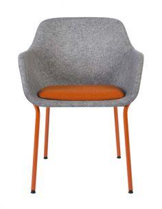 Vepa Project Furniture | Felt  Felt met 4-poots metalen onderstel. Kuip van geperst vilt uit gerecyclede PET-flessen.