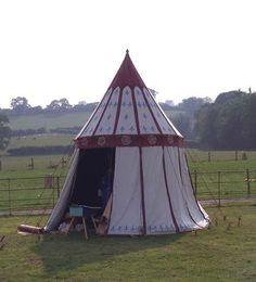 Medieval tent Brockhampton Estate, 2005.