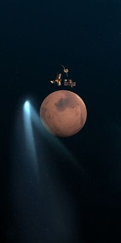 On Oct 19, 2014, a comet had a near miss with Mars. Comet C/2013 A1 (Siding Spring) passed closer to the red planet than any comet has ever passed to Earth in recorded history. Taking advantage of this unique opportunity to study the close interaction of a comet and a planet, humanity currently has five active spacecraft orbiting Mars. These and the two active rovers on the Martian surface have taken data and images that will be downloaded to Earth and likely studied for years. (NASA/Spitzer)