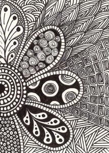 This stylish zentangle is from salmonbrookstudio.com