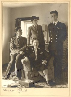 Dowager Queen Maria of Yugoslavia and her three sons King Peter, Prince Tomislav, and Prince Andrew. Royal King, Royal Queen, Princess Alexandra, Princess Beatrice, Princess Victoria, Queen Victoria, King Alexander, Royal Photography, Before Marriage
