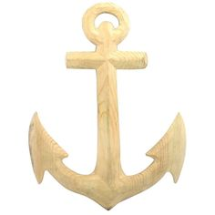 Carved wood anchor - HomArt I domino.com