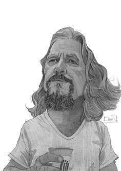 The Dude - The Big Lebowski Tribute Sketches by Stavros Damos, via Behance