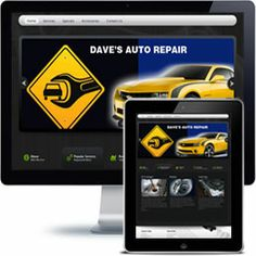 Daves Auto Repair Company website built with Wordpress using responsive web design.