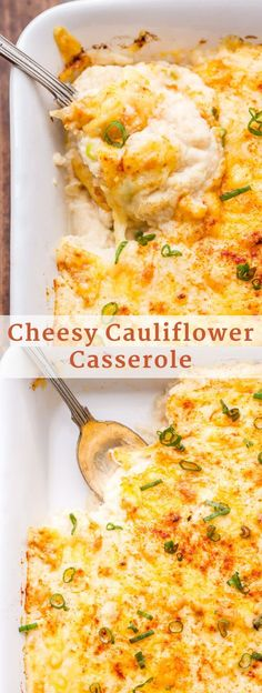 Side dish recipes 17944098501878242 - Add this Cheesy Cauliflower Casserole to your holiday menu for a delicious side dish everyone will love! All the flavor of cheesy mashed potatoes without all the carbs! Source by amybakeshealthy Veggie Side Dishes, Healthy Side Dishes, Side Dishes Easy, Side Dish Recipes, Vegetable Recipes, Food Dishes, Christmas Vegetable Side Dishes, Christmas Side Dishes, Diabetic Side Dishes