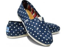 2014 New Arrival Toms Women  Casual Shoes Blue-White