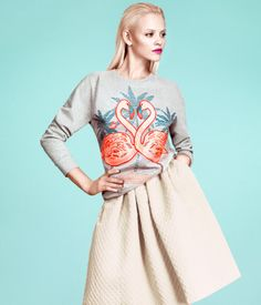 Such a lovely Flamingo Sweater!!