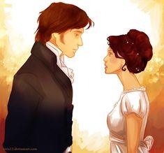 Mr. Darcy and Elisabeth - fan art