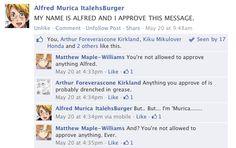Hetalia Facebook: Alfred's Message by gilxoz-epicness.deviantart.com on @deviantART (aww poor America)