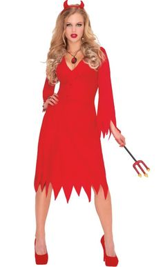 Adult Red Hot Devil Costume - Party City