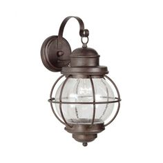 Found it at Joss & Main - Gloria Outdoor Wall Lantern in Gilded Copper