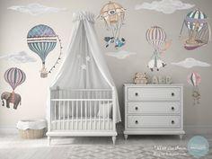 Choice of 1 Ex-Large Animal/Girl Hot Air Balloon nursery