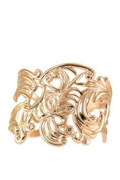 Rose Gold Baroque Cuff