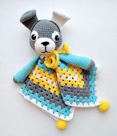 PATTERN Puppy Lovey Crochet Pattern Dog Security Blanket Puppy