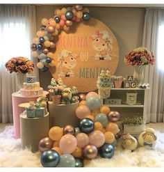 Gender Reveal Party Decorations, Baby Gender Reveal Party, Gender Party, Balloon Decorations, Birthday Party Decorations, Birthday Parties, Baby Girl Shower Themes, Baby Shower Parties, Lion King Birthday