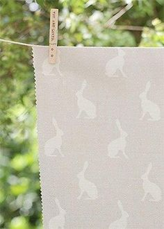 Hares (Mini) ~ Gustavian Grey Background or Dove Background on Cream Linen - Peony & Sage Pink Icing, Funky Home Decor, Star Designs, Fabric Wallpaper, Gray Background, Country Life, Country Living, Soft Furnishings, Tejidos