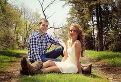 Spring country engagement pictures
