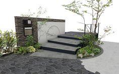 Modern Gate, Exterior Colors, Outdoor Decor, House Landscape, House, Garden Design, Exterior House Colors, Entrance, Modern