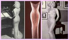 O vestido usado por Marilyn ao cantar parabéns para o presidente John F. Kennedy, no Madison Square Garden, em 1962.