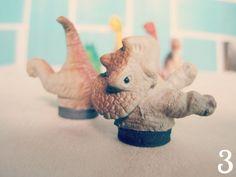 Miss Darlingheart: Toy Dinosaur DIY: Photo Holder