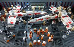 Lego Star Wars - The Rebel X-Wings Base - High View