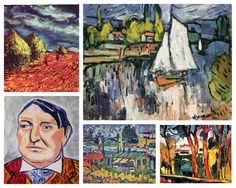 April 4, 1876 is the birthdate of French painter, printmaker, draughtsman and writer, Maurice de Vlaminck. He began to to draw while in elementary school and neglected his studies for his sketches. Coming from a musical household, however, he studied music early in his life. Meeting André Derain and seeing some of Vincent van Gogh's art inspired him to paint, dabbling in Fauvism, then experimenting with Cubism, ultimately settling into an Expressionistic style, which he maintained.