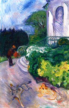 Gardener in Dr. Linde's Garden Edvard Munch - 1903