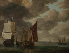 Museum of Fine Arts Ghent | Reinier Nooms, Marine view (Zeegezicht), 17th century