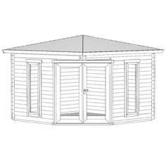Greenway x Ashdown Corner Log Cabin - Log Cabins