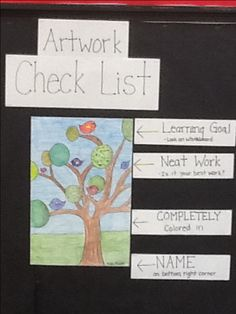 Artwork checklist to look at before handing in