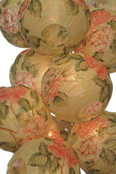 Peony Chinese Lantern String Lights
