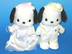 Pochacco Wedding Plushs Hello Kitty Characters, Pochacco, Little Boy Blue, More Cute, Girls Be Like, Sanrio, Plushies, Dumb And Dumber, Wedding Decorations