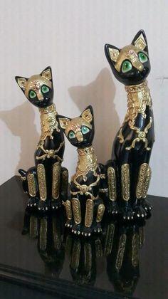 Avisos clasificados gratis - Vende lo que ya no usas | OLX Ceramic Bisque, Cat Crafts, Cold Porcelain, Wood And Metal, Polymer Clay, Sculptures, Kitty, Ceramics, Crafty