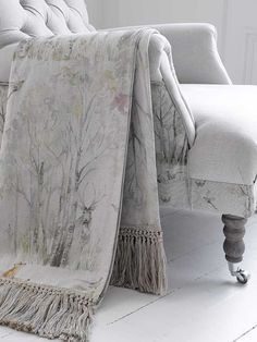 Enchanted Forest Linen Throw by Voyage Maison