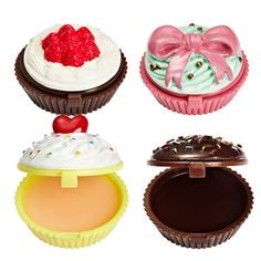 Holika Holika Dessert Time Lip Balm.  Cute little cupcakes filled with delicious lip balm.
