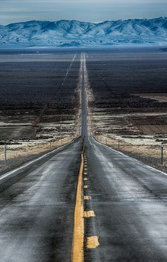 The long and not so winding road in Northern Nevada by Brent Morris