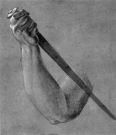 Arm of Lucretia by Albrecht Durer. Northern Renaissance. sketch and study