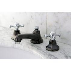Water Onyx Double Handle Widespread Bathroom Faucet with Brass Pop-Up Drain | Wayfair