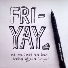 Feeling especially Fri-Yay today with Who's with us! My Notebook, Hand Lettering, Doodles, Challenges, Notes, Writing, Feelings, Art, Art Background